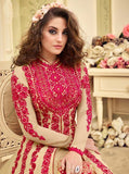 Wonderful Kyra !!! Cream  Color Georgette Embroidery party wear long Suit