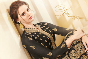 Great AADHVINNA !!!  Black Heavy work Designer Embroidered  Georgette Anarkali Suit