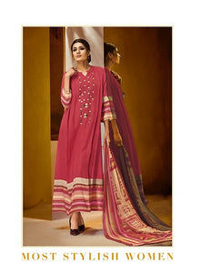 Gorgeous Haya !!! Crimson red with cream with printed Dupatta