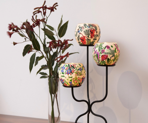 Waratah Candle Holder - Australian Wildflowers Collection