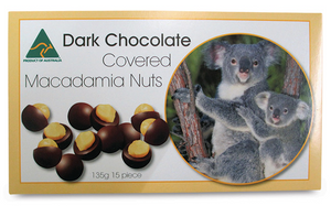 Dark Chocolate Macadamia Nuts 135g - Koala Farms