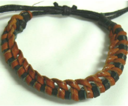 Bracelet Leather Thick Plaited