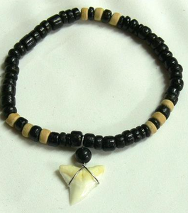 Bracelet with Shark Tooth & Beads