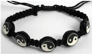 Bracelet Cotton with Ying Yang Bead