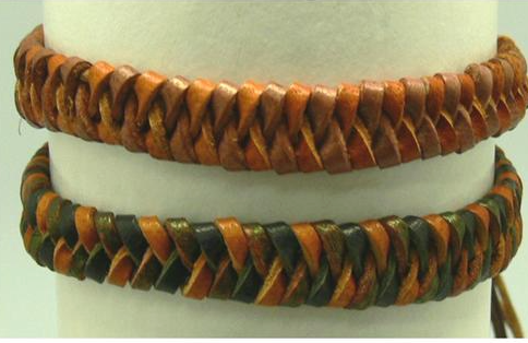 Bracelet Leather Braided