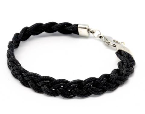 Bracelet Cotton wide plait