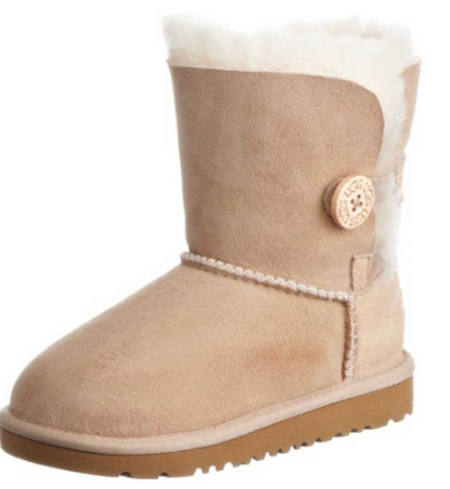 Kids Short One Button UGG BOOT