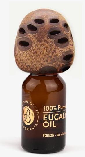 15ml Bottle of Eucalyptus Oil with Banksia Lid