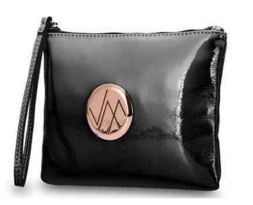 GIA BLACK GENUINE LEATHER CLUTCH BAG