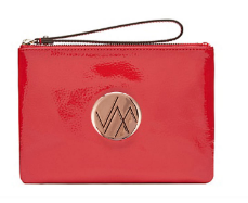 GIA RED GENUINE LEATHER CLUTCH BAG