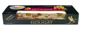 Flying Swan - Soft Almond Cranberry & Pistachio Nougat 120g TWIN PACK