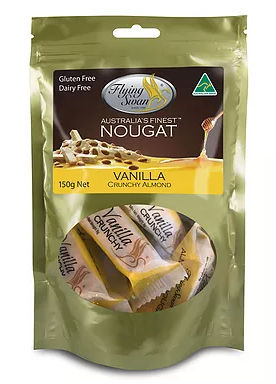 Flying Swan - Crunchy Almond Vanilla Nougat - 200g Pack