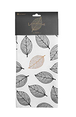 Tea Towel Cotton - Latana Black Collection