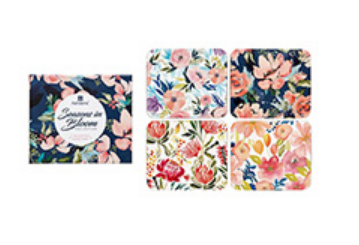 Coasters Set of 4 - Seasons in Bloom Collection