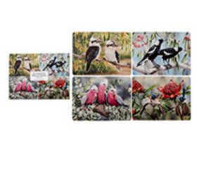 Coasters  Set of 4 - Australian Bird & Flora Collection