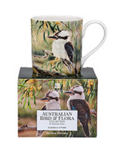 City Mug Kookaburra & Wattle - Australian Bird & Flora Collection