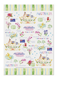 Australia Cotton Tea Towel - Australia Down Under Collection