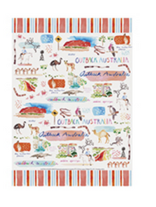 Outback Cotton Tea Towel - Australia Down Under Collection