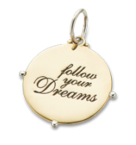 Follow Your Dreams Charm - 4141
