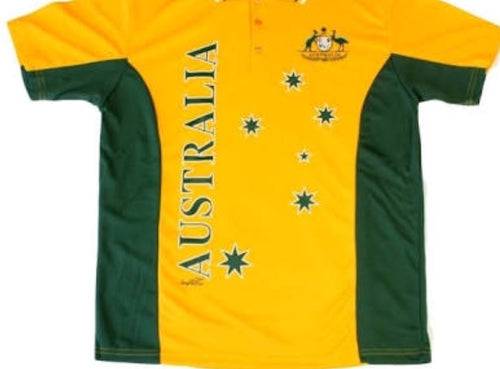Australia Polo Shirt Green & Gold