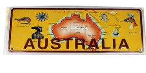 Novelty Licence Plate Australia Map
