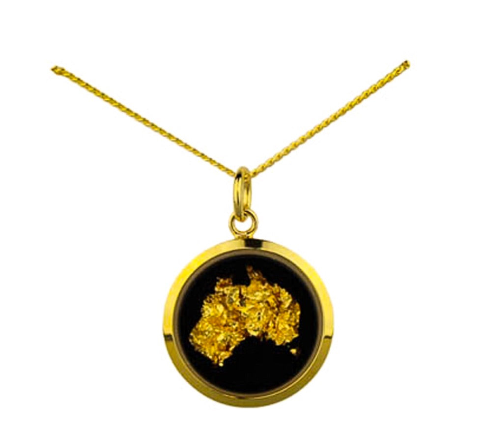 Gold Australia Map Necklace