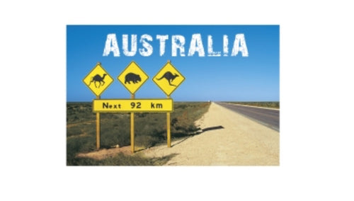 GALLERY MAGNET AUSTRALIA road sign