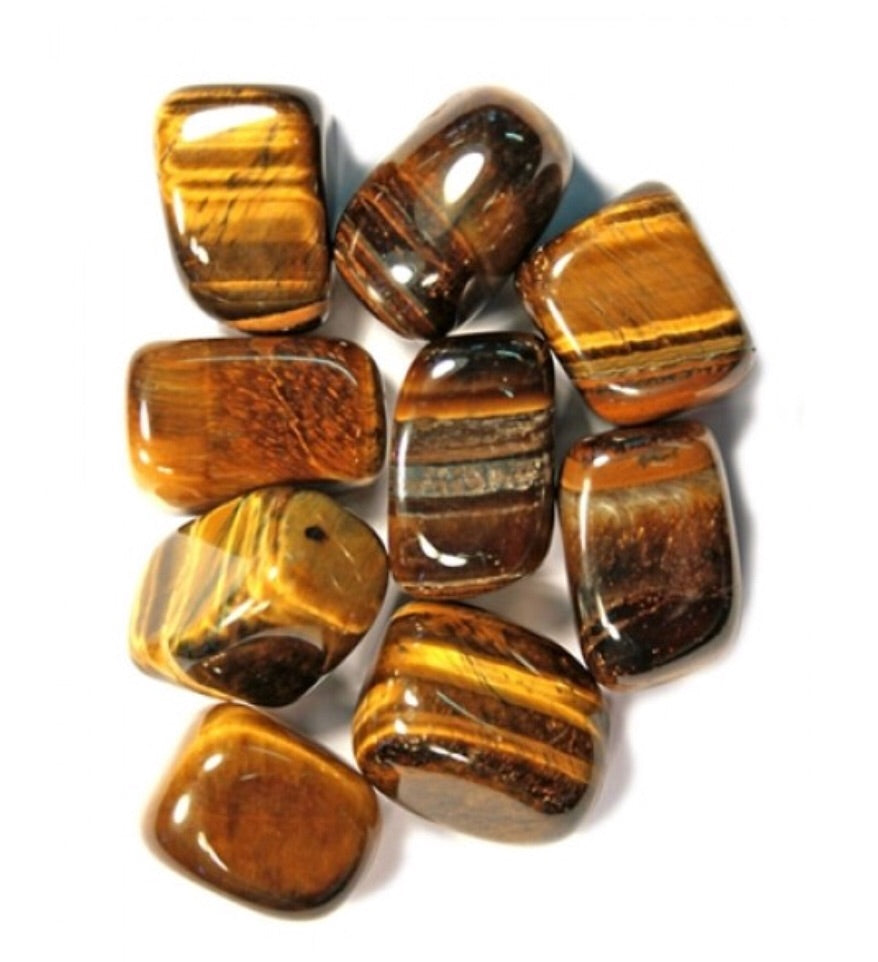 TIGER EYE TUMBLED STONES ~ COURAGE