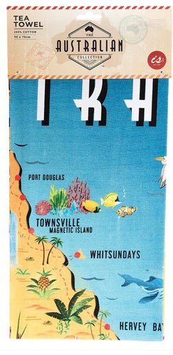 Australian Collection Teatowel - Map