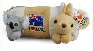 Plush Koala & Kangaroo Pencil Case