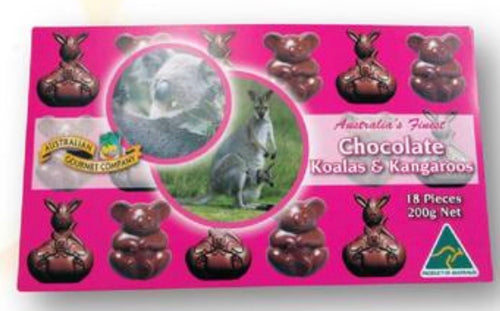 Chocolate Koalas and Kangaroos