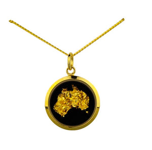 Gold Australia Map Necklace Large
