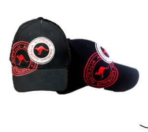 Australian Stamp Cap Red/Blue