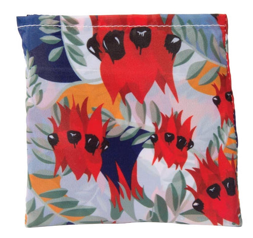 Australian Collection-Botanical Foldable Shopper Sturt Pea