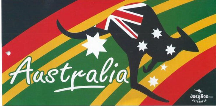 KANGAROO FLAG DESIGN BEACH TOWEL