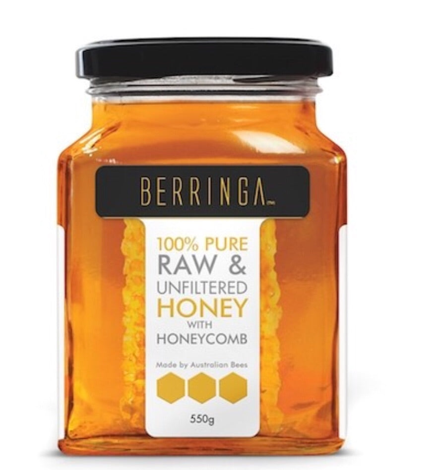 Berringa Honey & Honeycomb Raw Eucalyptus 550g