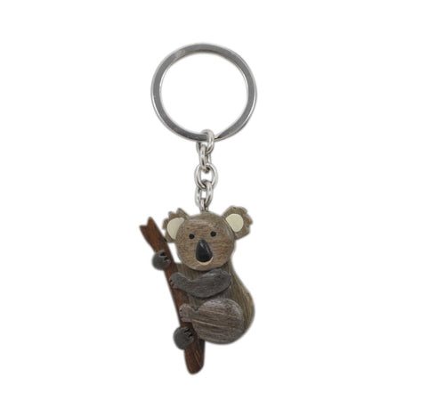 Timber Keyring - Koala Front Branch