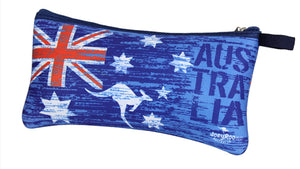 Australian Flag & Kangaroo Pencil Case