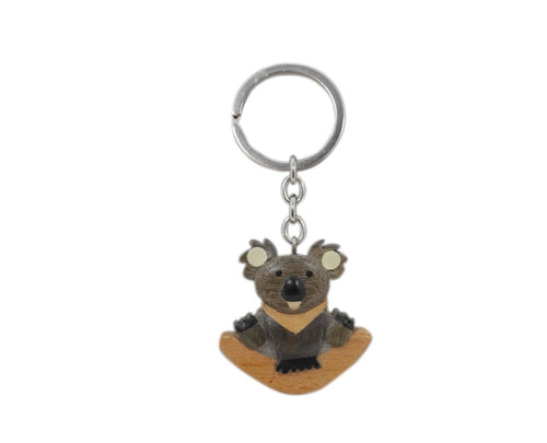 Timber Keyring - Koala Boomerang