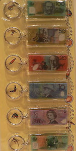 Australian Money Keyring Set