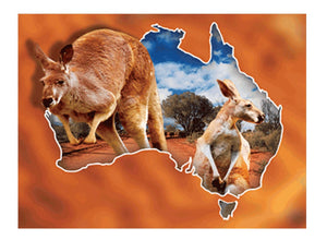Red Roo Kangaroo A3 3D Placemat