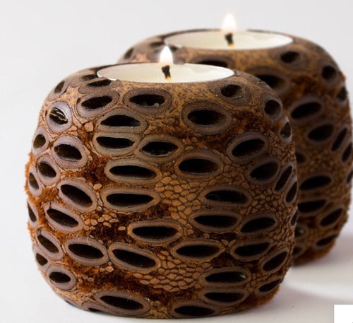 Banksia Double Tea Light Holder