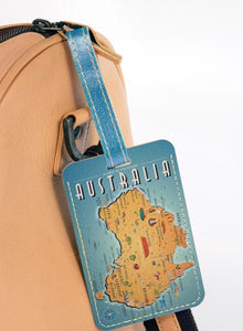 Australian Collection Luggage tag - Map