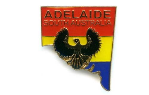 PIN CLUTCH ADELAIDE SOUTH AUSTRALIA MAP & SHRIKE
