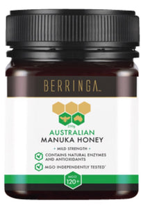 Berringa Manuka MGO120+  A mild strength Manuka honey