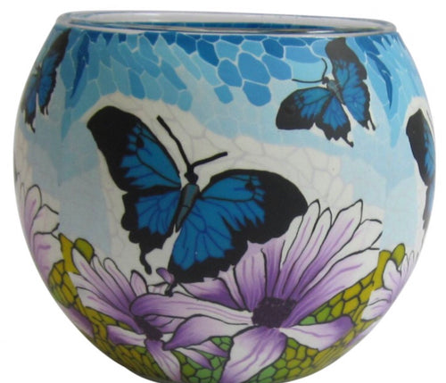 Glass Illusions Candle Holder - Butterfly