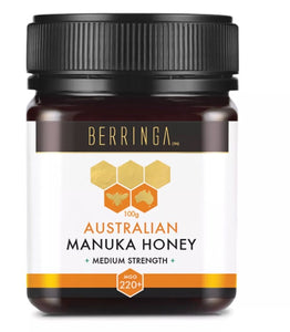 Berringa Australian Manuka Honey - Medium Strength 220+MGO 100g