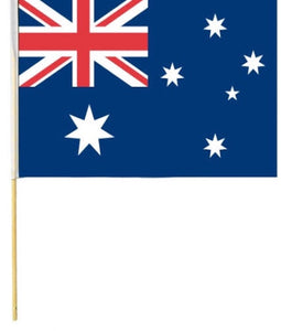 Australian Flag on Stick - 1 Pack - 45CM X 22.5CM