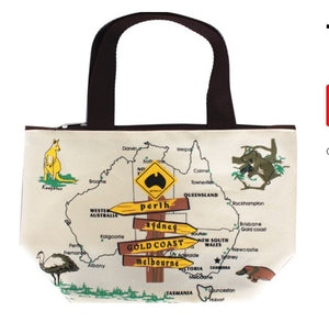 Roadsign Map  - Large Bag With Zip