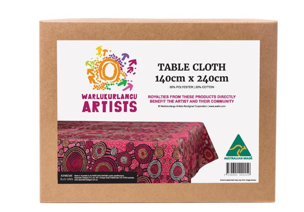 TEDDY GIBSON TABLECLOTH